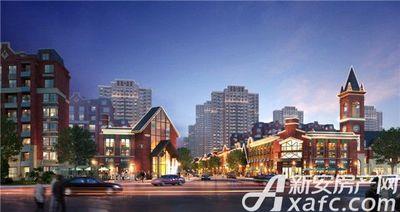北京城建国誉锦城商业透视夜景