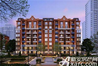 北京城建国誉锦城透视夜景