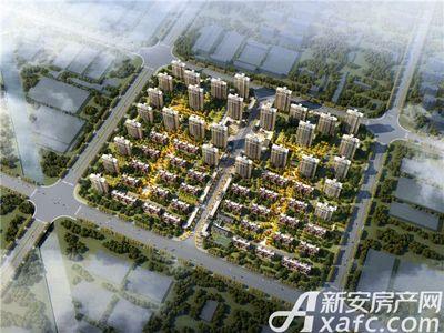 北京城建珑樾华府鸟瞰日景