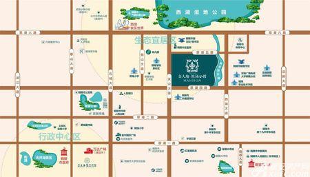 金大地滟澜公馆交通图