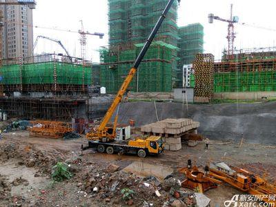 绿地滨江壹号8月进度:其他楼栋在出土(2017.8.16)