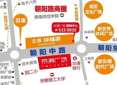 京澳广场交通图