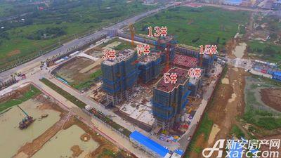 皖新翡翠庄园在建楼栋航拍图(2017.8.30)