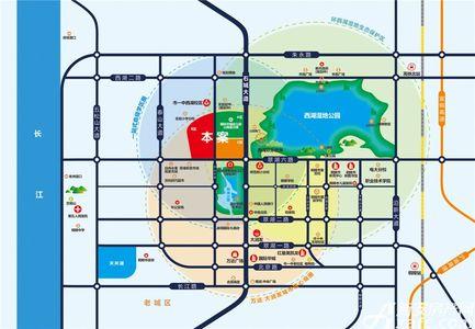 公园道B区御湖交通图