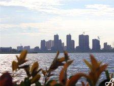 公园道B区御湖西湖公园远观实景