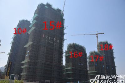 文一豪门金地工程进度图(2017.9.18)