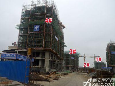 宜秀蓝湾1#-4#工程进度(2017.9.6)