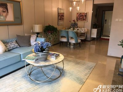 新城·悦府A户型100㎡三室两厅一厨一卫-客餐厅