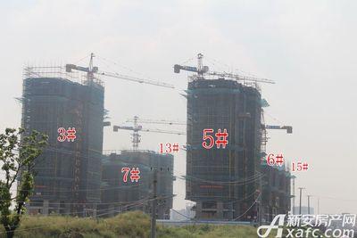 皖新翡翠庄园在建楼栋工程进度(2017.9.28)