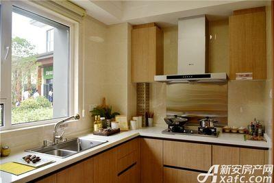皖新翡翠庄园116㎡样板间:L型厨房