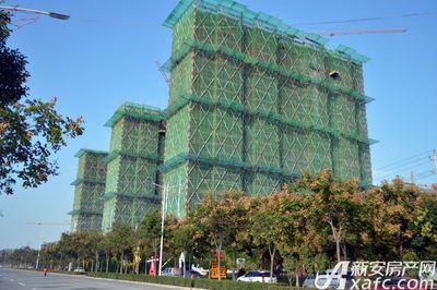 万成·哈佛玫瑰园二期高层工程进度(2017.10)