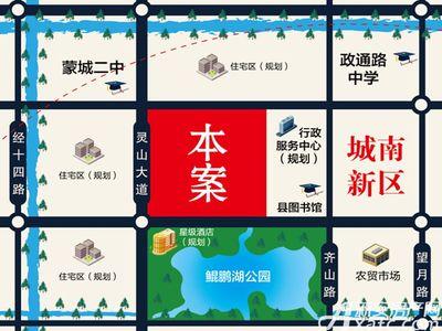 徽创江南郡交通图