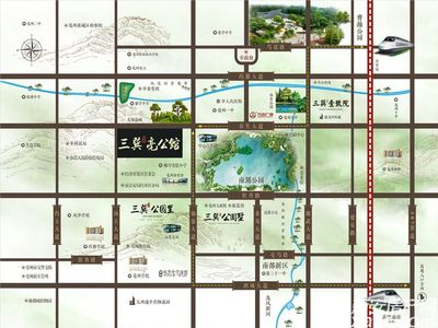 三巽亳公馆交通图