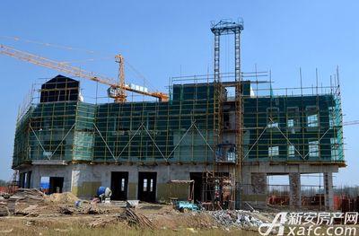 高速·海德公馆1#和8#中间商业项目进度(2017.10)