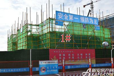 皖新翡翠庄园1#工程进度(2017.10.31)