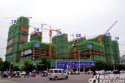 宿州CBD万达广场宿州CBD·中心广场10月项目进度(2017年10月17日)