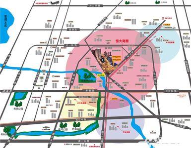恒大中央广场交通图