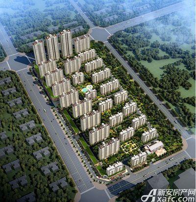碧桂园城市之光东南方向日景鸟瞰图