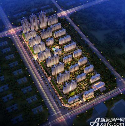 碧桂园城市之光东南方向夜景鸟瞰图