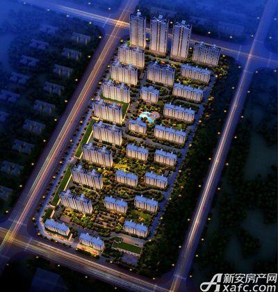 碧桂园城市之光西南夜景鸟瞰图