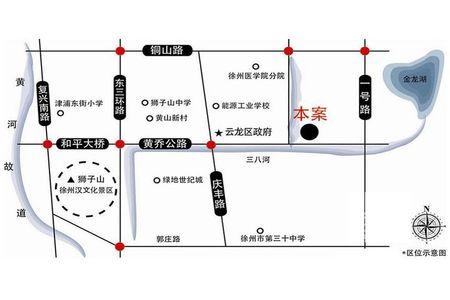 提香湾交通图