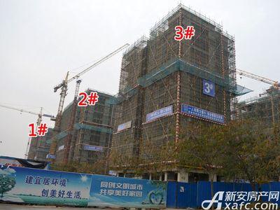 宜秀蓝湾1#、2#、3#工程进度(2017.12.6)