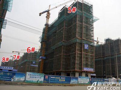 宜秀蓝湾5#-8#工程进度(2017.12.6)