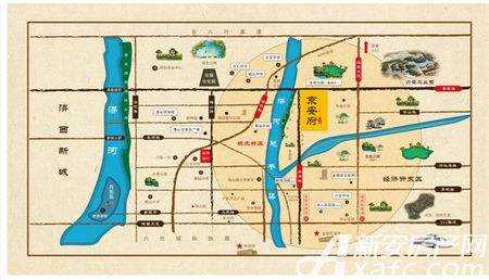 帝景京安府交通图