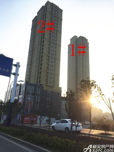 银湖义安学府1#、2#楼1月进度(2018.01.09)