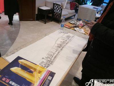 宿州CBD万达广场宿州CBD中心广场为古城墙写生(1月13日)