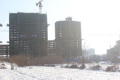 加侨侨城壹号加侨侨城壹号1月份项目进度 A区高层均正在封顶