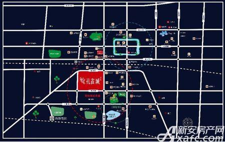 珍宝岛·孔雀城交通图