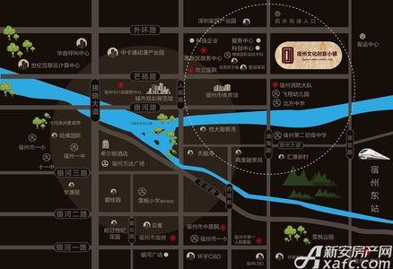 宿州文化创意小镇交通图