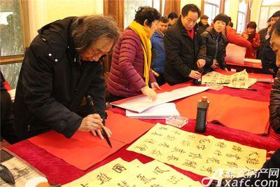 淮北凤凰城淮北书法名家写对联20180128