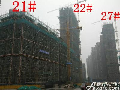 大发宜景城21#、22#、27#工程进度(2018.1.21)
