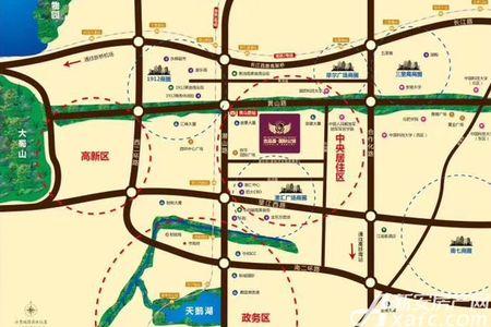 吉品荟·国际公馆交通图