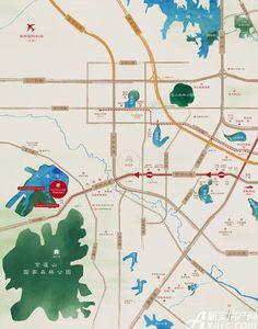 美好紫蓬山壹号交通图