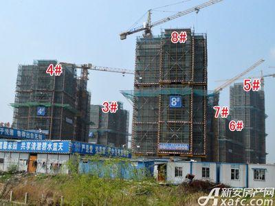 宜秀蓝湾3#—8#工程进度(2018.3.27)