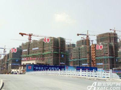 宜秀蓝湾3#、4#、8#工程进度(2018.3.27)