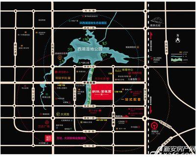 铜陵碧桂园区位图