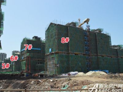 置地·康熙左岸5#、6#、7#、8#工程进度(2018.4.9)
