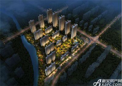 铜陵碧桂园夜景鸟瞰图