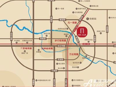地铁一号公寓交通图