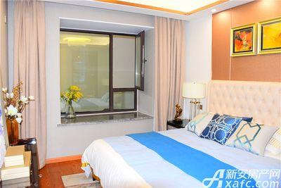 文一云溪湾96㎡样板间-主卧床和飘窗