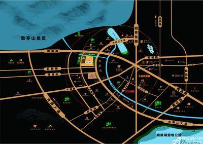 中梁宣督府交通图