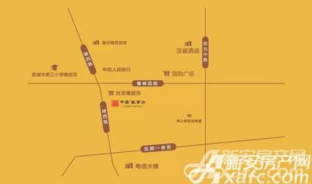 中梁敬亭府交通图