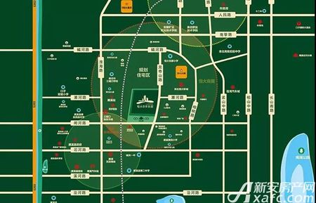 淮北恒大中央公园交通图