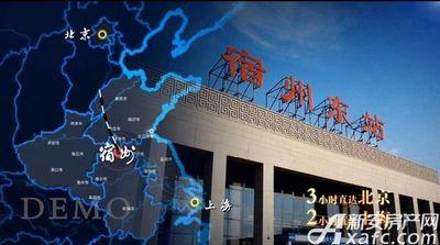 绿地·宿州城际空间站宿州绿地城配套图