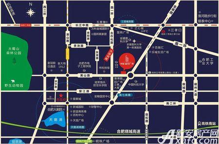 合肥华冶金石广场交通图