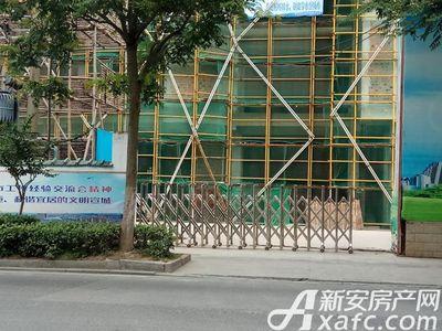 西林名都悦府2018年6月 项目地入口